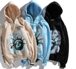 $enCountryForm.capitalKeyWord NZ - Brand of hoodie White designer fashion Statue of Liberty Torch letter latest sports brand shirt street fashion street fashion men's sweatsh