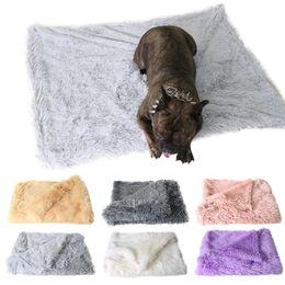 $enCountryForm.capitalKeyWord Australia - Soft Velvet Pets Dogs Beds Blanket Warm Fluffy Sleeping Double Layer Mat For Small Medium Large Dogs