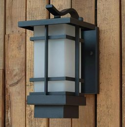 Wholesale New Chinese courtyard lighting Classical Outdoor Patio Lamp Wall Lamp Japanese Garden Outdoor Waterproof Wall China Wind lights LED LLFA