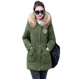 Womens Parkas Australia - New Long Parkas Female Womens Winter Jacket Coat Thick Cotton Warm Jacket Womens Outwear Parkas Plus Size Fur Coat 2019