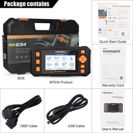 land rover tool Australia - Foxwell NT634 OBD OBD2 Scanner Engine ABS SRS Transmission Scan Tool 11 Reset Functions OBD 2 Code Reader Car Diagnostic Tool