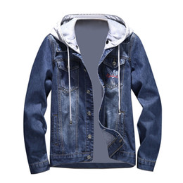 ad0518f9b6 Autumn Korean men s jacket 2018 New Arrival Mens Denim Pockets Pullover  Long Sleeve Hooded Tops Blouse Outwear Coat
