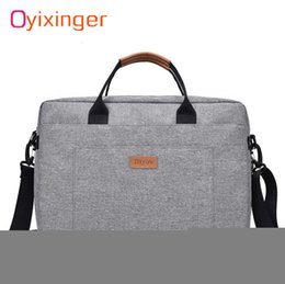 trip packages Canada - Men Canvas Business Briefcase Office Travel Messenger Large Tote Women's Computer Work Bag Business Trip File Package Laptop BagMX190905