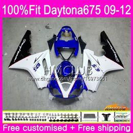 $enCountryForm.capitalKeyWord Australia - Injection For Triumph Daytona 675 09 10 11 12 Bodywork 44HM.6 Hot White Blue Daytona-675 Daytona675 Daytona 675 2009 2010 2011 2012 Fairing