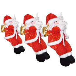 xmas tree hanging santa claus decorations NZ - Christmas Home Decorations Shopping Malls Santa Claus New Year Hanging Pendant Xmas Decoration OrnamentsSupplies