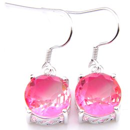 $enCountryForm.capitalKeyWord Canada - Luckyshien 5 Pairs Holiday Gift Unique Round Cut Bi Colored Tourmaline Gems 925 Sterling Silver Dangle Hook Earrings Wedding Party Earrings