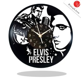 $enCountryForm.capitalKeyWord UK - Elvis Presley Vinyl Record Wall Clock Get unique Garage wall decor The KING Gift ideas for friends teens OCK POP MUSIC Unique Mode