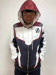 Venta al por mayor de Christmas Avengers Endgame Quantum Realm Sudadera Chaqueta Advanced Tech Hoodie Disfraces Cosplay 2019 nuevo superhéroe Iron Man Hoodies suit