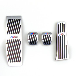 Vente en gros Pas de pédales de forage pour BMW 1 Série 3 E46 E90 E91 E92 E93 E87 E88 embrayage en aluminium Gaz frein Repose-pieds Pédale LHD MT Avec logo M