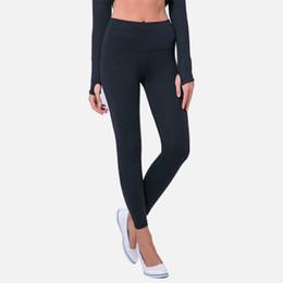 Yoga Capris Pant UK - Women Autumn Yoga Pants Ladies Fashion Hip Sports Fitness Slim Skinny High Waist Feet Nine Pants Female Solid Color Sport Pants