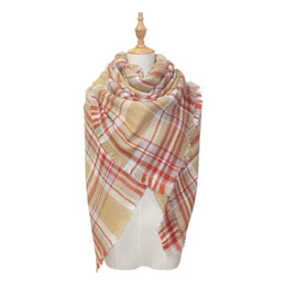 88186ec0dd062 Women Plaid Scarves Grid Tassel Wrap Oversized Check Shawl Tartan Cashmere  Scarf Fashion Winter Neckerchief Lattice Blankets B70-89 Choose