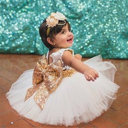 $enCountryForm.capitalKeyWord NZ - Newborn Baby Girls Dress 2019 Summer Infant Party Dress For Girls 1-2 Years Birthday Dress Wedding Christening Gown Kids Clothes XF49