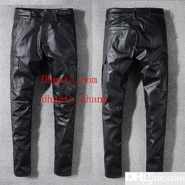 Designer Leather Trousers Australia - Mens Designer Jeans Pants Men Pure Leather pants Mens Designer Pants Men Comfortable Trousers Mens Jeans