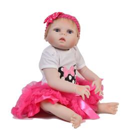 12185c9feea Reborn Baby Doll Bottles UK - 57cm 23 Inch Reborn Baby Girl Doll Full  Silicone Vinyl
