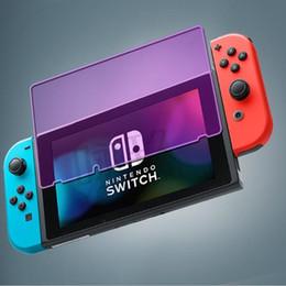 Venta al por mayor de Protector de pantalla de protección para los ojos de vidrio templado de calidad para Nintendo Switch 9H 2.5D 0.3 mm a prueba de explosiones HD antiarañazos paquete de película BFM015