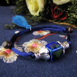 Distinctive jewelry online shopping - Handcraft Vintage Beads Bracelet Weaving Bohemia Ceramic Charm Women Bangles Distinctive Candy Jewelry Sapphire Emerald Rubine DHL