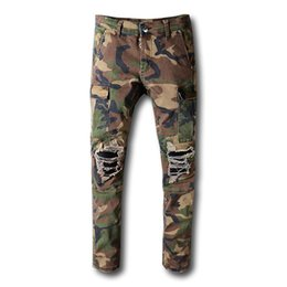 Mens capris online shopping - Fashion miri Mens Pants Fashion Camouflage Jogging Pants Mens Zipper Overalls Beam Foot Trousers Irregular Joggers Pants