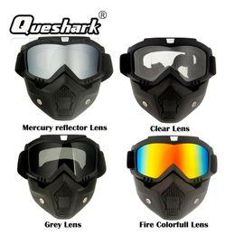 Discount ski snowboard sunglasses - Queshark Ski Snowboard Mask Winter Ski Snowmobile Goggles Windproof Skiing Glasses Cycling Sunglasses With Mouth Filter
