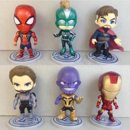 Figures Australia - FUNKO POP 6 pieces  lot Avengers Endgame Super Hero PVC Action Figures Toys 10 cm Anime Figures Model Toys For Kids SS261