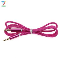 TableT pc vga cable online shopping - AUX Cable mm Jack Nylon Cable Frosted Metal Shell Male to Male Car Aux Auxiliary Cord for Phone MP3 Tablet PC Stereo Audio Cable