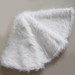White Faux Fur Shorts Australia - Free Shipping Faux Fur Christmas Tree Skirt Snowy White Tree Skirt for Christmas Decorations