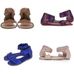 Wholesale Bohemia Sandals Canada - Women Retro Flats Leather Bohemia Sandals Summer Female Open Toe Beach Shoes Lady Zip Casual Flip Flop Sandalias Size 35-41
