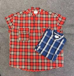 $enCountryForm.capitalKeyWord Australia - 2019 new top Korea hiphop Men Women justin bieber Fear of god FOG T Shirt Oversized Casual Fashion Sleeveless shirt Lattice Cotton shirt Tee
