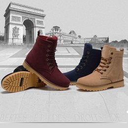 snow chains for boots NZ - Wholesale- fashion winter shoes women's suede boots for men ladies snow boot botines mujer chaussure femme warm ankle boots with fur