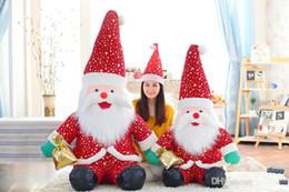 Santa Claus Figures Australia - 20cm-130cm Santa Claus Doll Smile Santa Claus plush toy doll creative Christmas gift for children