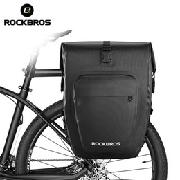 Bicycle Travelling Australia - ROCKBROS 27L Bicycle Bags Waterproof Foldable Cycling MTB Bike Bags Reflective Panniers Long Travel Luggage Bag Bike Accessories