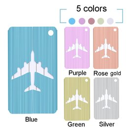 $enCountryForm.capitalKeyWord Australia - 10 Styles Suitcase Luggage Label Tags Airplane Pendant Handbag Portable Travel Accessories Name ID Address Fashion Luggage Tags BH1998 ZX