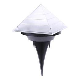 $enCountryForm.capitalKeyWord Australia - BRELONG IP65 Waterproof LED Pyramid Solar Buried Ground Garden Sensor Night Light Landscape Lawn Yard Stair Decoration Outdoor Lamp