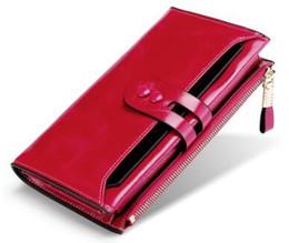 $enCountryForm.capitalKeyWord Australia - RFID Oil wax cow leather Wallet Genuine leather Purse Woman fashion style Long size black purple pink blue mustard available