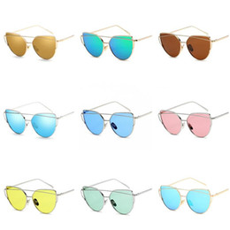 $enCountryForm.capitalKeyWord UK - Classic Sunglasses Mirrored Flat Lenses Metal Frame Eyewear UV400 Protection Sunglasses Unisex Retro Vintage Sun Glasses 18 Colors