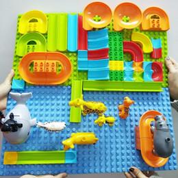 $enCountryForm.capitalKeyWord Australia - Diy Large Particle Building Blocks Accessories Marble Race Run Maze Ball Track Compatible Assemble Bricks Toys blocks