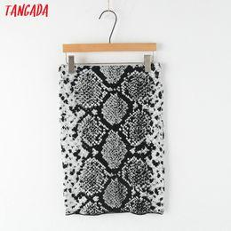 $enCountryForm.capitalKeyWord NZ - Tangada women knitted skirt animal pattern elastic waist for female fashion snake sexy ladies mini pecil skirts stretch 3N10