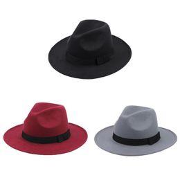 3 Colors Mafia Hat Men s Wool Felt Snap Brim Hat Trilby Women Vintage Wool  Panama Fedora Cloche Cap Wool Felt Jazz Hats D19011103 c60dcd52a2f5