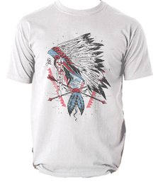 Indian Men S T Shirt NZ - The leader t shirt Indian vintage spirit S-3XL Men Women Unisex Fashion tshirt Free Shipping Funny Cool Top Tee Black