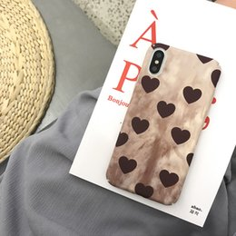 love phone cases wholesale 2019 - Retro Wine Red Love Phone Cases Surface Matt For Iphone Xs Max PC Hard Cell Phone Case For Iphone 6 7 8 Plus discount lo