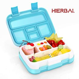 food compartment box Australia - Fashion Portable Eco-Friendly PP Lunch Box Waterproof Microwave Bento Box Food container with 4 5 Compartments Grids T200111