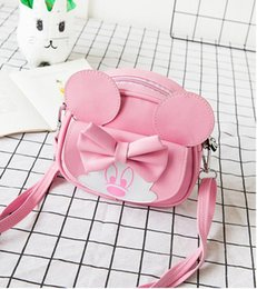Wholesale Hot Children handbag mini lady cute shoulder bags girl butterfly bag a main female Bow tie bag Color