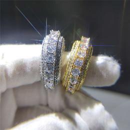 $enCountryForm.capitalKeyWord NZ - Luxury Micro-set Five-row Full Zircon Ring Hip Hop Style Personalized Jewelry Designer Top Quality Mens Ring Titanium Sport Accessories