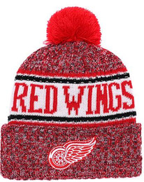 Wing Hats NZ - DETROID WINGS Ice Hockey Knit Beanies Embroidery Adjustable Hat Embroidered Snapback Caps Orange White Black Stitched Hat One Size 00
