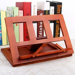 Book Bookshelves online shopping - Multifunctional Foldable Wood Bookshelf Stand Holder Reading Rack Wooden Reading Book Support Stand Holders Tablet PC car