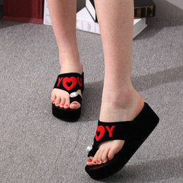 $enCountryForm.capitalKeyWord Australia - MUQGEW Shoes Woman Slippers Fashion Summer Wedges Crystal Diamond Ring Flip Flop Round Toe Platform Shoes Slide zapatos de mujer