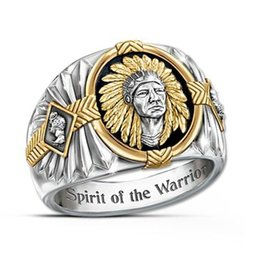 gold rings 14 NZ - Hip Hop Ethnic Style Indian Jewelry Mens Viking Bull 316L Stainless Steel Ring US Size From 7 To 14