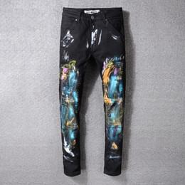 $enCountryForm.capitalKeyWord Australia - 2019 New Fashion men Black jeans men desginer clothing ripped hip hop biker slim pants Causal Denim Pants Streetwear Style mens Jeans Cool