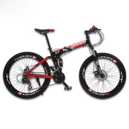 "disc mtb NZ - GT-UPPER Mountain Bike Foldable Steel Frame Mechanical Disc Brake 24 Speed 26"" Wheel MTB"