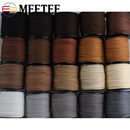Diy Bracelets Thread Australia - Meetee 2.8mm Width 90m roll Leather Rope Cords Woven Cord Wire Necklace Bracelet DIY Handmade Decor Accessories CD202