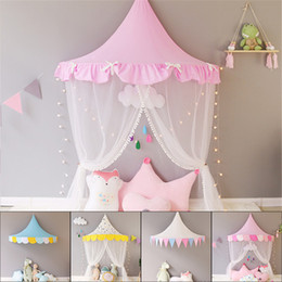 $enCountryForm.capitalKeyWord Australia - Children Teepee Tipi Tent For Kids Canopy Drapes Cribs Baby Cabin Girl Princess Cottages Canopy Bed Curtains Nursery Sofa Decor